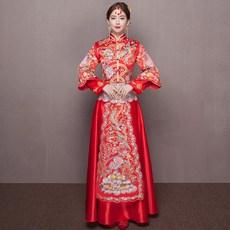 82e04ab9ab3 gc58 룩 의류 복장 옷 가먼트 수화 중국식 결혼함 신부 긴소매 롱슬리브