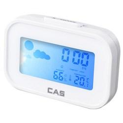 카스 탁상용 디지털 시계 겸 온습도계 화이트 T022