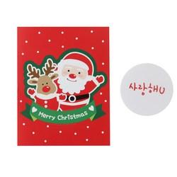 황씨네도시락 크리스마스 캔디홀더 산타 30p + 연인메시지 스티커 화이트 30p + OPP 30p